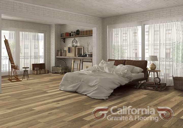 Vintage bedroom in bohemian style