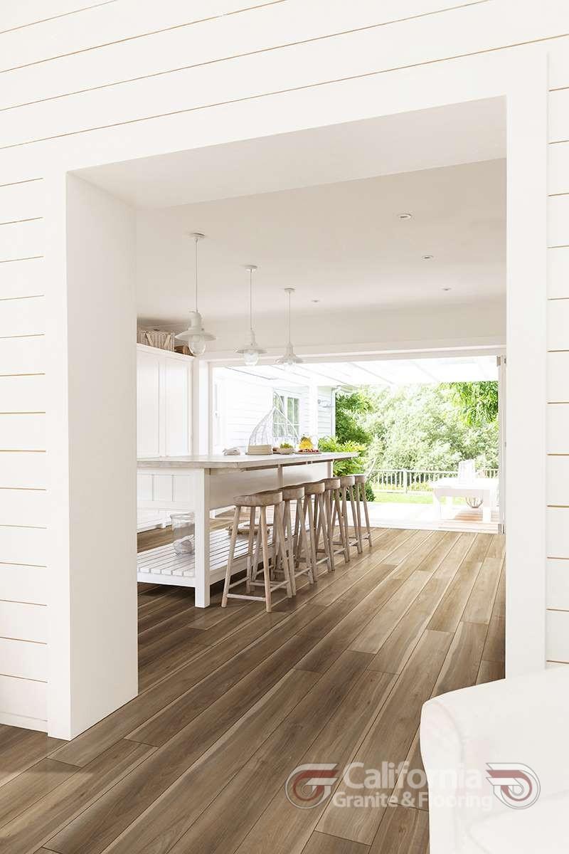 Kitchen open to patio